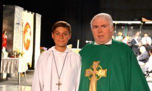 Santino Passalacqua and Father Casey