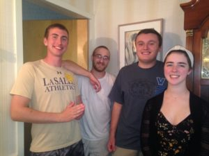 Best wishes in college! Christopher Czyzweski (St. Peter's University), Michael Neaves (St. Charles Borromeo Seminary), Dan Hack (Gwynedd Mercy University), Becky Dolan (Cedar Crest College) Thank you for all of your hard work this summer and over the past few years!